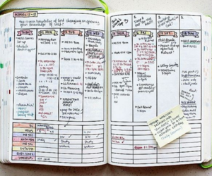goals, notebook, and journal image