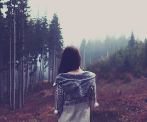 girl, alone, and forest image