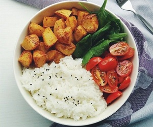 food, healthy, and rice image