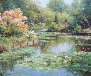 art, painting, and nature image
