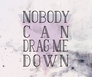 Lyrics, drag me down, and quotes image