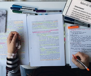 study, school, and books image
