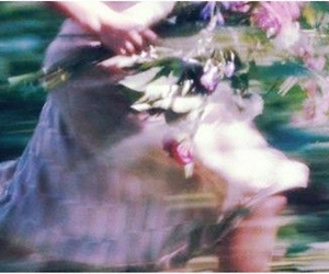 flowers, girl, and run image