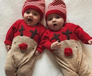baby, christmas, and red image