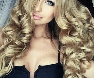 beauty, curly, and blonde image