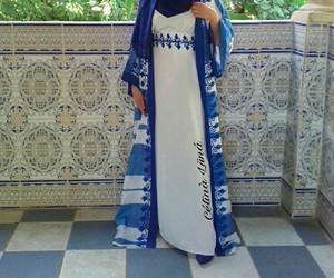 blue, dress, and hijab+ image