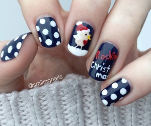 bird, nails, and snow image