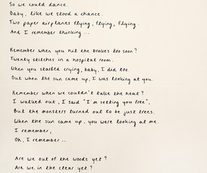handwritten, Lyrics, and Taylor Swift image