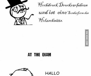 german, funny, and exam image