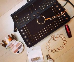 bag, black, and lipstick image