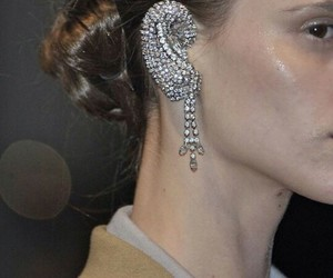 accessories, diamonds, and earring image