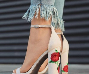 shoes, rose, and style image