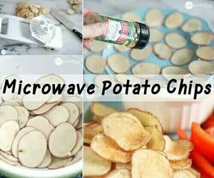 chips, food, and potato image