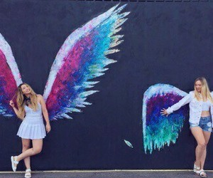 wings, angel, and friends image