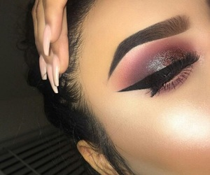 beautiful, chic, and eyebrows image