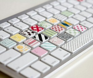 keyboard, pink, and pretty image