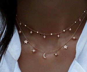 bright, moon, and necklace image