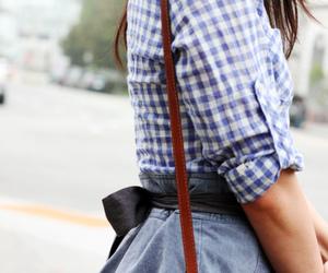blue, bag, and skirt image