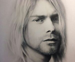 drawing, kurt cobain, and nirvana image