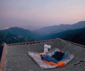mountains, nature, and sleep image