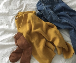 cozy, fashion, and yellow image