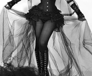 gothic, dress, and black image