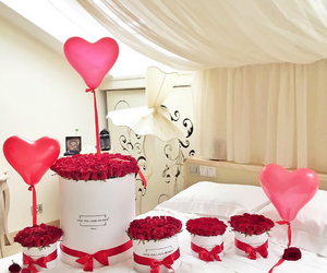 rose, flowers, and balloons image