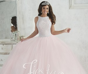 ball gown, pink, and prom dress image