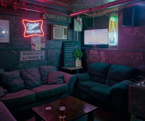 neon, room, and tumblr image