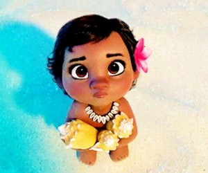 baby, disney, and moana image