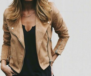 jacket, leather, and look image