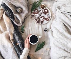 christmas, coffee, and lights image