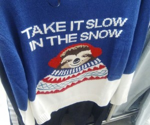 favourite, sloth, and ugly christmas sweater image