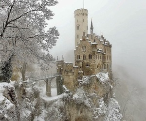 winter, castle, and germany image
