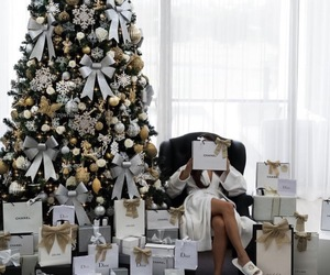 chanel, christmas tree, and dior image