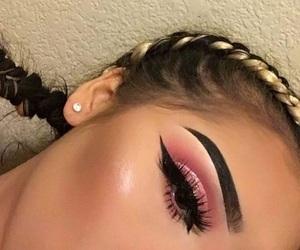 beautiful, cat eye, and eyebrows image