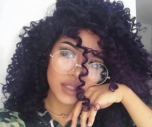 hair, glasses, and makeup image