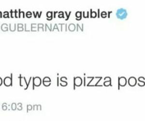 matthew gray gubler, pizza, and tweet image