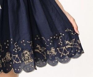 blue, skirt, and stars image