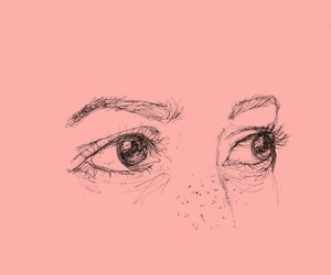 drawing, eyes, and art image