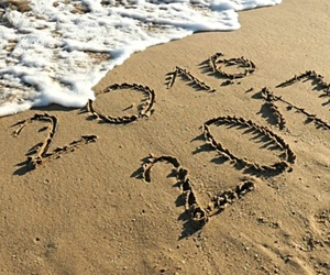beach, new year, and waves image