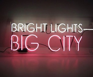 light, neon, and city image