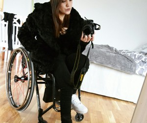 faux fur, nike, and wheelchair+ image