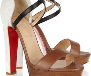 christian louboutin, leather, and python image