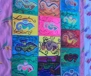 art, party ideas, and sea horses image