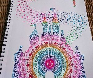 disney, mandala, and drawing image