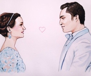 gossip girl, blair, and chuck bass image