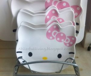 dishes and hello kitty image