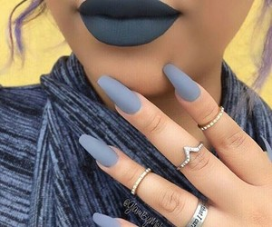 nails, lips, and rings image