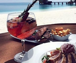 cocktail, food, and travel image
